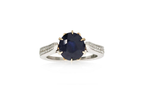 Near Opaque Sapphire Ring