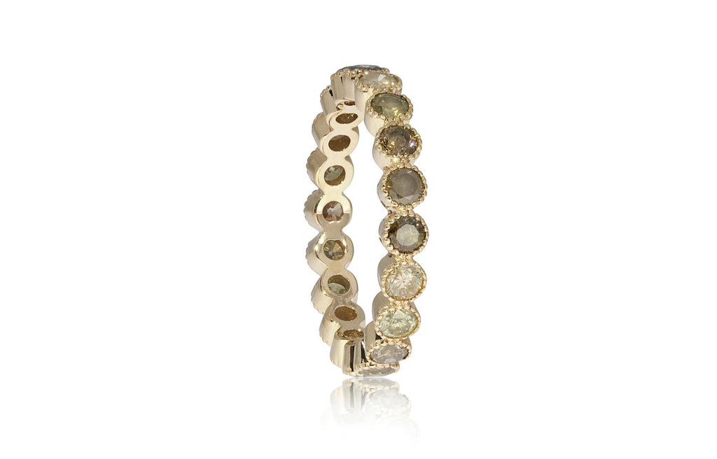 Yellow Eternity Band Size 7 Ring