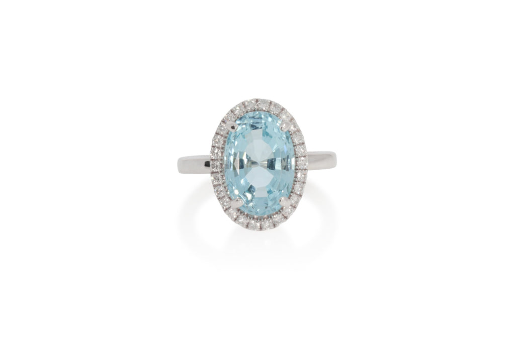 Aqua Diamond Ring