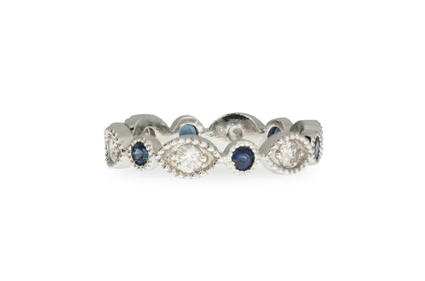 Diamond and Sapphire Band Ring