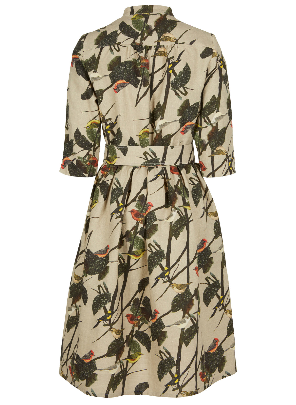 PALAVA - Cynthia Dress (Natural Forgotten Birds)