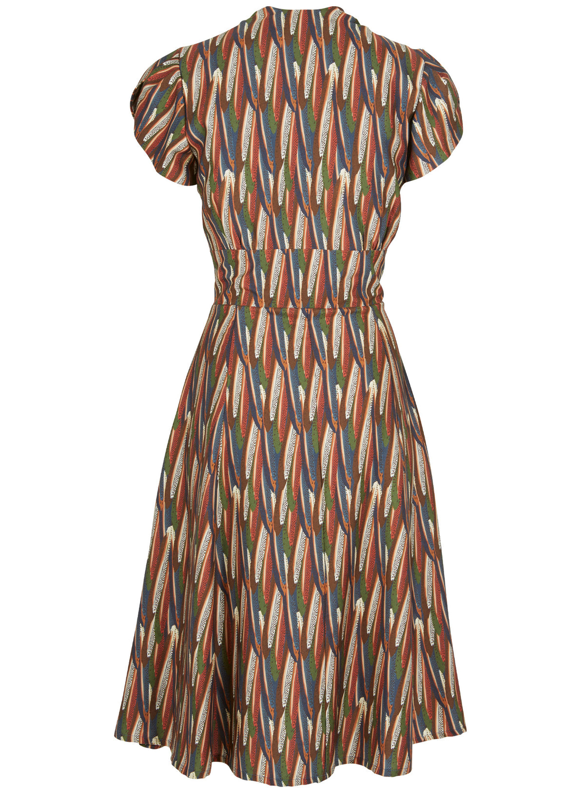 PALAVA - Rita Dress (Multi Feather / Navy Marbled Feather)