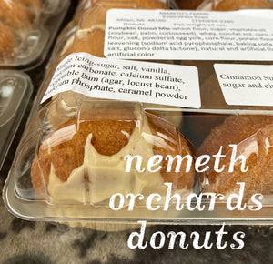 Nemeth's Orchard Cider Mill Donuts and Muffins
