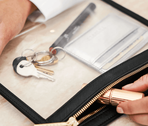 Clarity Clutch Small in Black - How to Switch Handbags Quickly with Truffle
