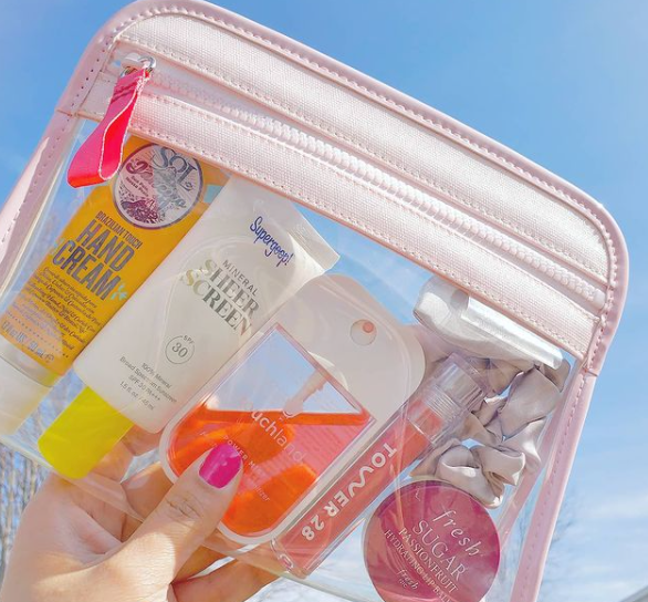 The Clarity Pouch Small in Blush via @skinbeautyaddict