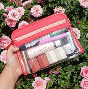 Cadence Containers Inside a Clarity Pouch Small in Sorbet from @jessandherthings