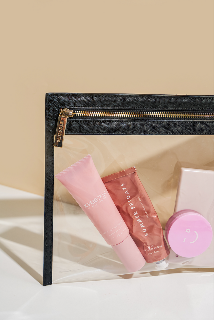 Clarity Clutch Small in Black for Travel Size Skincare Products - Our Favorite Travel Size Products of 2021