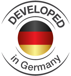 developed in Germany Logo