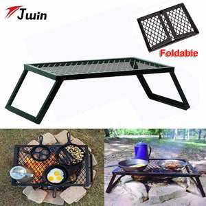 Folding Campfire Grill For Cooking Open Fire Foldable BBQ Grill Rack Portable Camping Grill Barbecue Grill for Outdoor Accessory