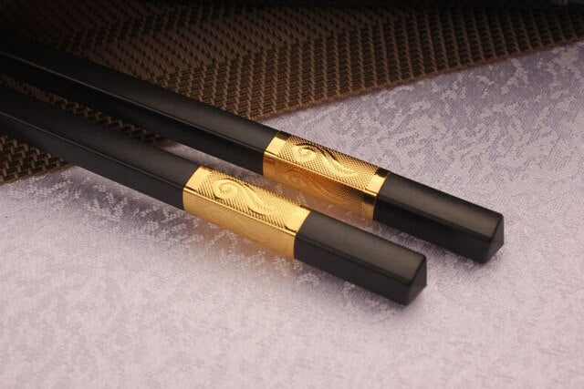Black & Gold Korean Chopsticks