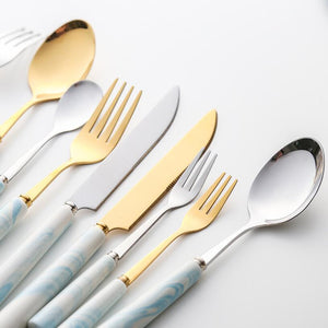 The Marble Gold Tableware Set