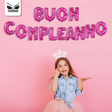 Load image into Gallery viewer, Ghirlanda Palloncini Buon Compleanno Rosa