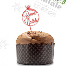 Load image into Gallery viewer, Topper Panettone buon natale