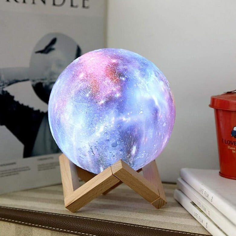 3D Galaxy Moon Lamp - LuminoLights