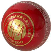 Highmark Torpedo 4PC Leather Cricket Ball - Highmark Cricket