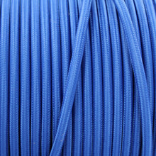 Laden Sie das Bild in den Galerie-Viewer, Textile Cable for Lamps - Round - Navy Blue