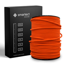 Load image into Gallery viewer, Textile Cable for Lamps - Round - Orange