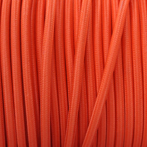 Textile Cable for Lamps - Round - Orange