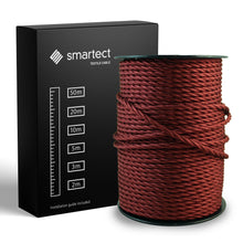 Laden Sie das Bild in den Galerie-Viewer, Textile Cable for Lamps - Twisted - Bordeaux