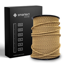 Load image into Gallery viewer, Textile Cable for Lamps - Twisted - Light Brown
