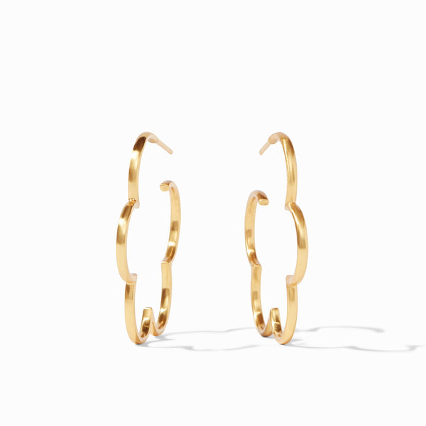 Gardenia Hoop Earrings (see sizes)