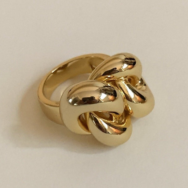 chunky chain ring statement gold ring branded knot ring chunky ring for women