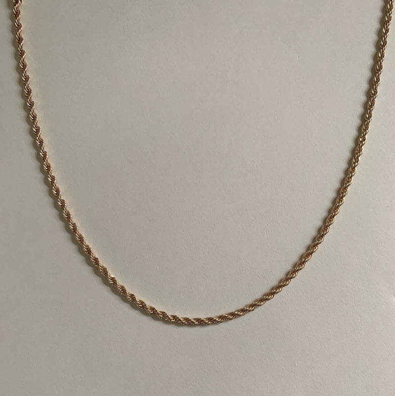 "Entwining 18"" rope necklace"