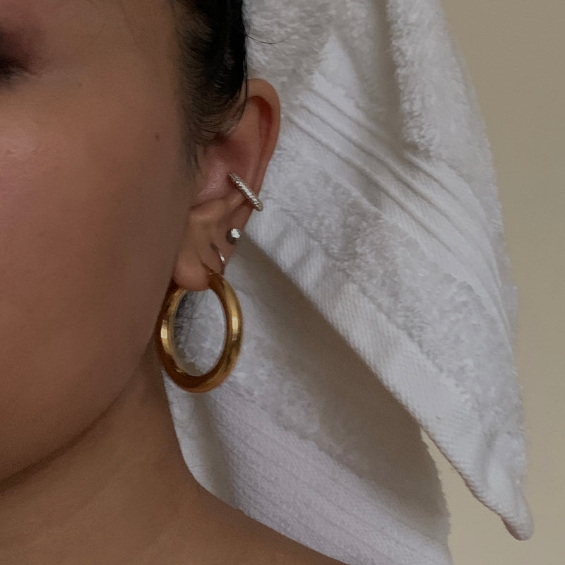 Defoe Classic Hoop Earrings