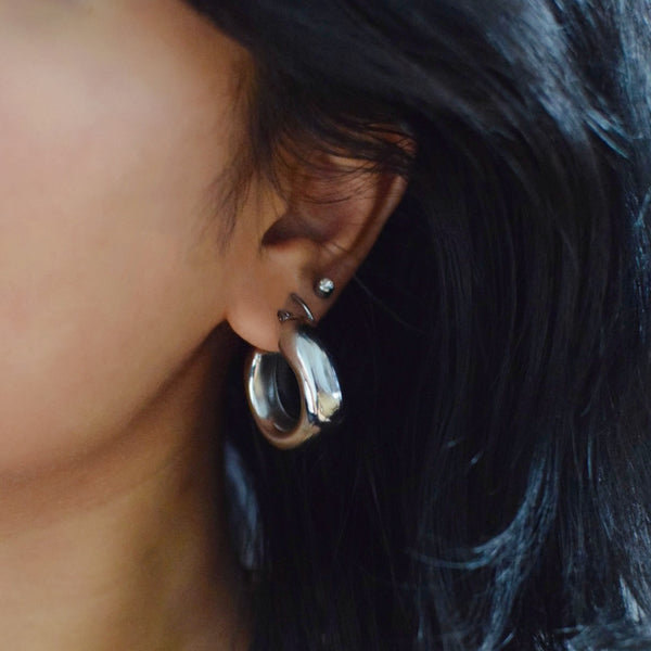 Arissa Chunky Tube Earrings