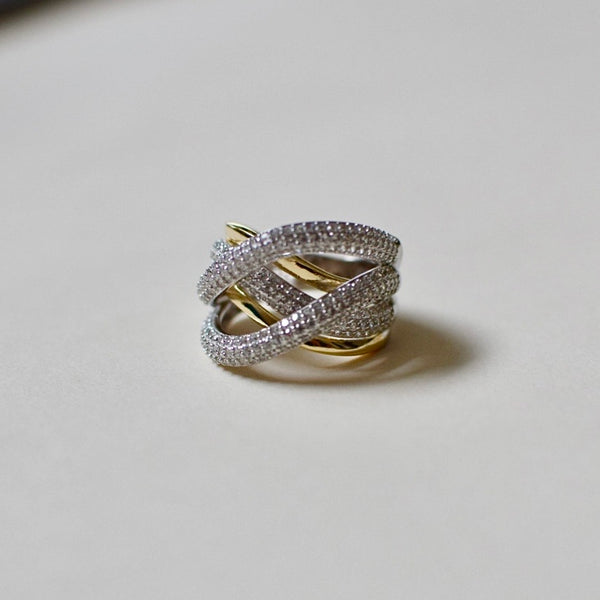 Diana Double Tone Diamond Ring