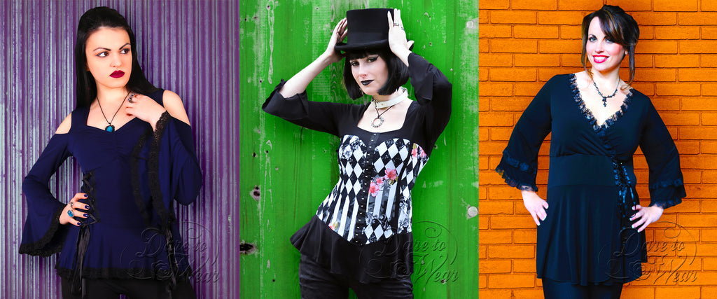 Dare to Wear Victorian Gothic Corset Tops - 3 Steampunk Styles