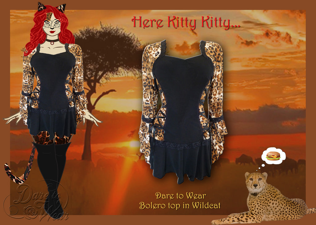 Dare to Wear Bolero Top in Wildcat Kitty Costume