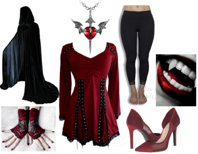 Vampire Costume idea using Dare Fashion Electra top in Garnet