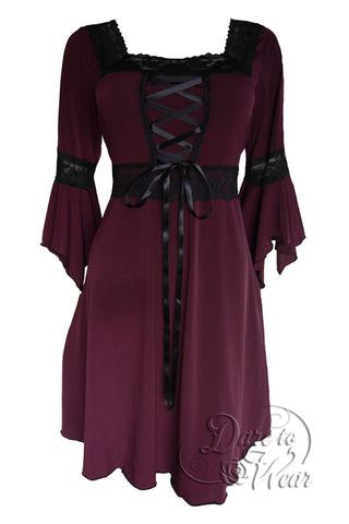 Dare to Wear Renaissance Dress in Burgundy