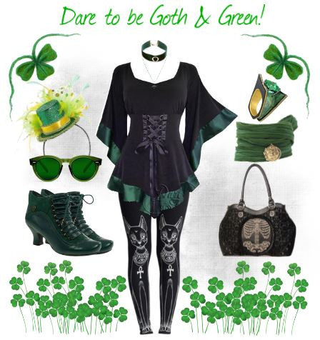 Dare to be Goth & Green! Dare Fashion St. Patrick's Day image