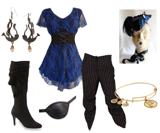 Pirate Costume using Dare to Wear Sweetheart Top in Blue Violet