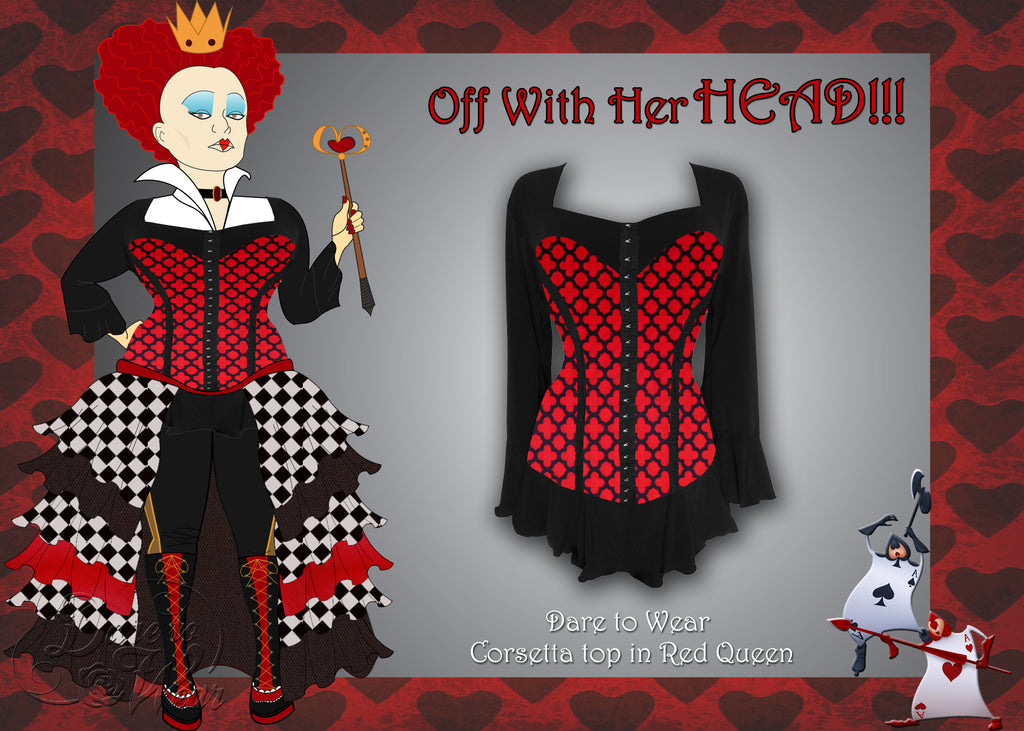 Red Queen Costume using Dare to Wear Corsetta in Red Queen