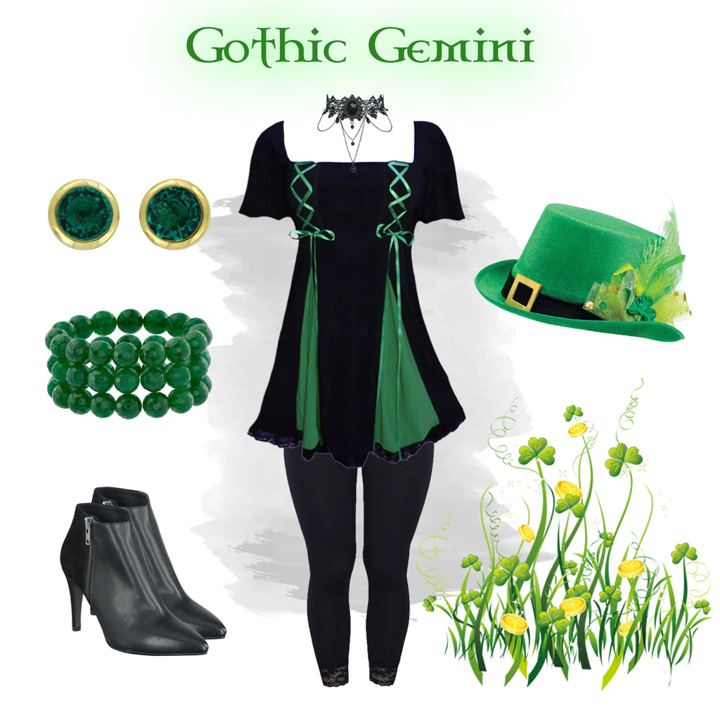Dare to Wear Gemini Princess S/S Top Gothic Outfit Idea Collage