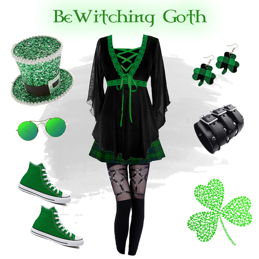 Dare to Wear Bewitched Corset Top Gothic Outfit Idea Collage