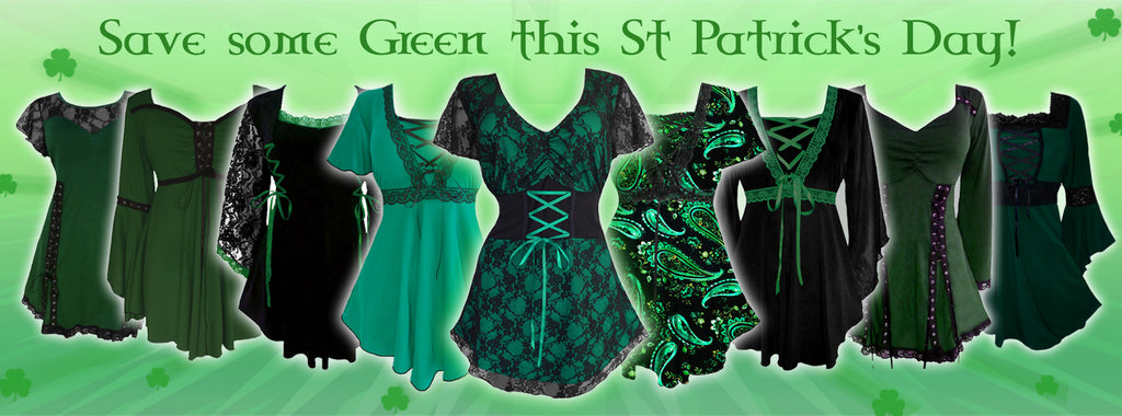 How to be Goth & Green on St Patrick's Day? Gothic Tops!