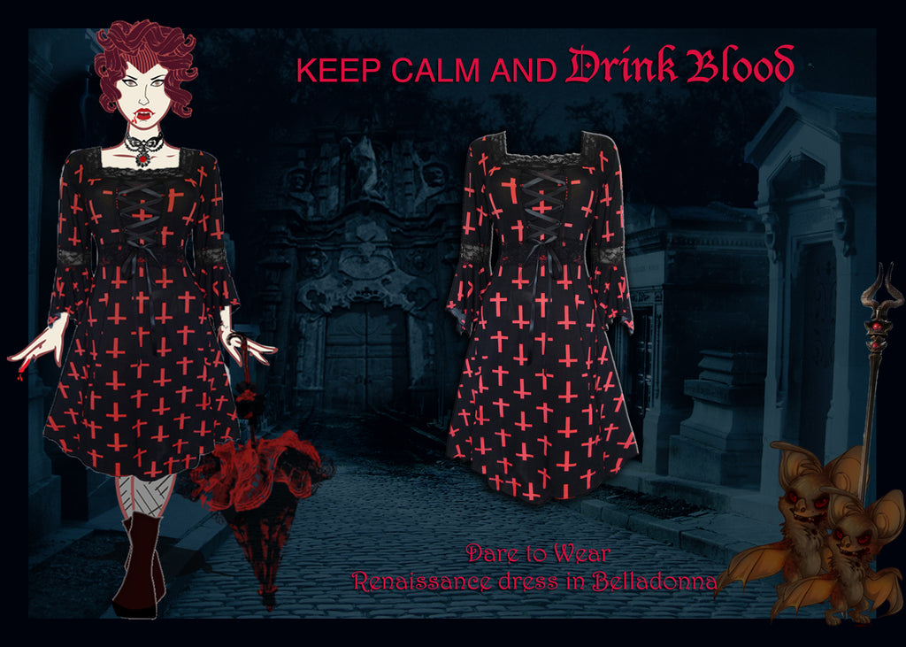 Vampire Costume using Dare to Wear Renaissance Dress in Belladonna