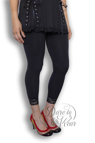 Dare Fashion Harmony Leggings BL01BlackRedPumpsSide