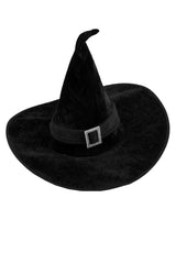 Halloween Witch Hat in Black/Black