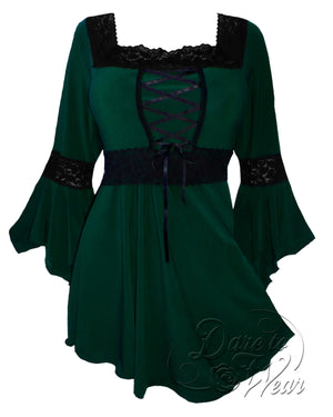 Dare Fashion Renaissance Top F05 Envy Victorian Gothic Corset Blouse