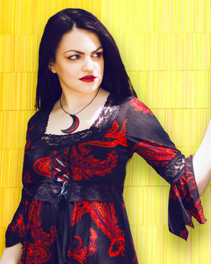 Gaelira in Dare to Wear Victorian Gothic Renaissance Corset Top in Phoenix