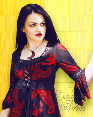 Dare Fashion Renaissance Top F05 Phoenix GGYlwThch Victorian Gothic Corset Blouse