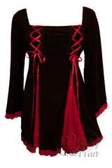 Dare To Wear Victorian Gothic Women's Gemini Princess Corset Top Black/Red