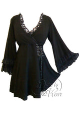 Dare To Wear Gothic Women's Victoria Corset Top Black