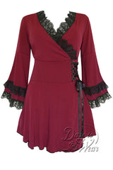 Dare To Wear Gothic Women's Victoria Corset Top Burgundy