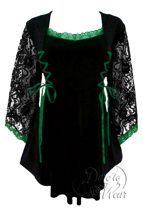 Dare To Wear Victorian Gothic Women/'s Plus Size Sweetheart Corset Top in Emerald